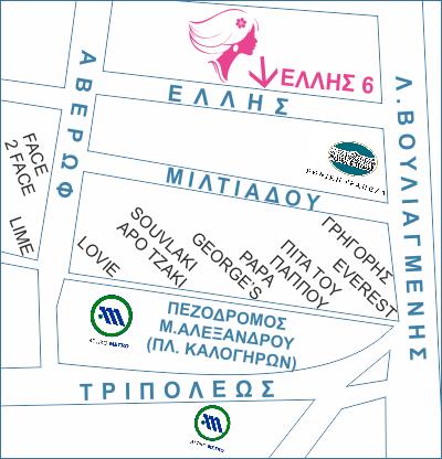 Χάρτης PrettySaloon Δάφνης